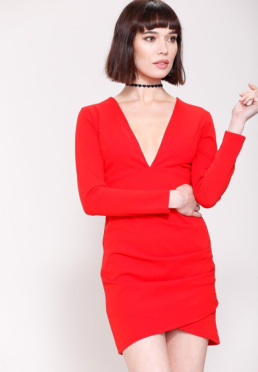 Czerwona Sukienka Big V