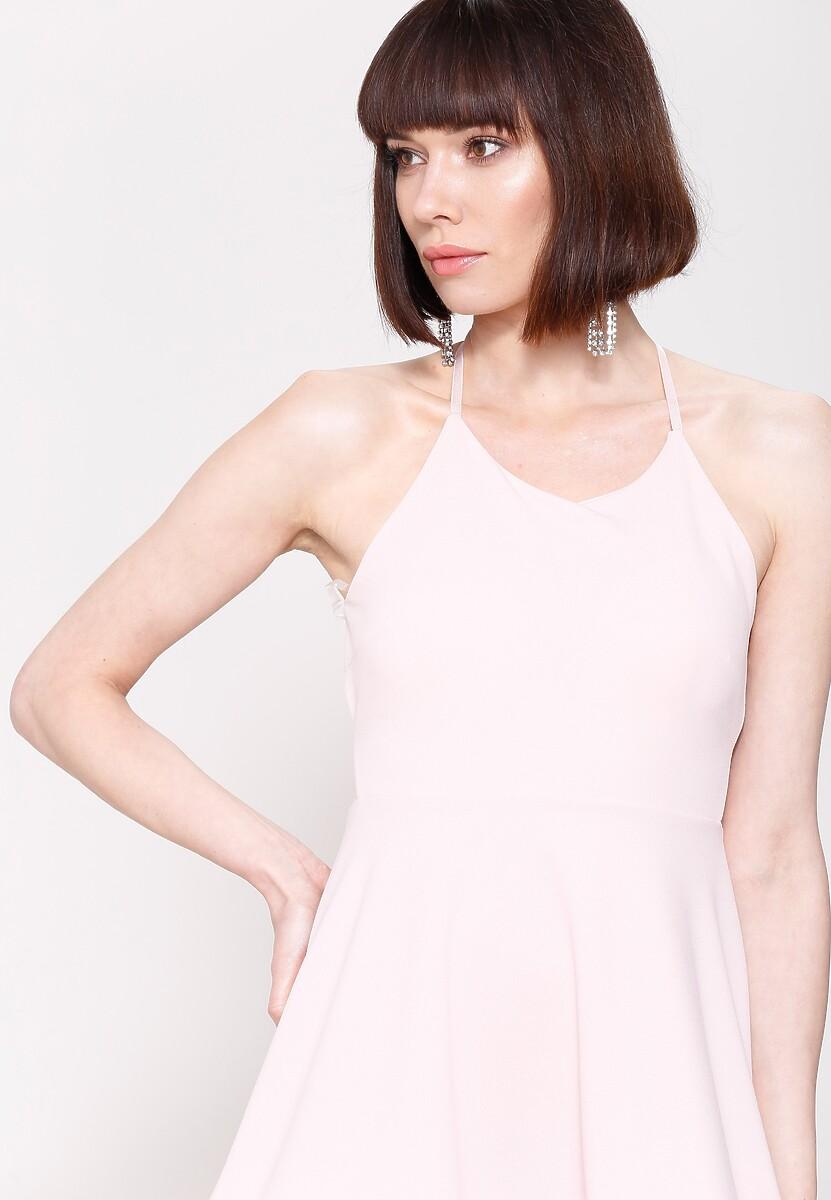 Różowa Sukienka Pretty Back