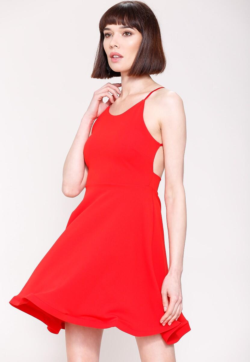 Czerwona Sukienka Pretty Back
