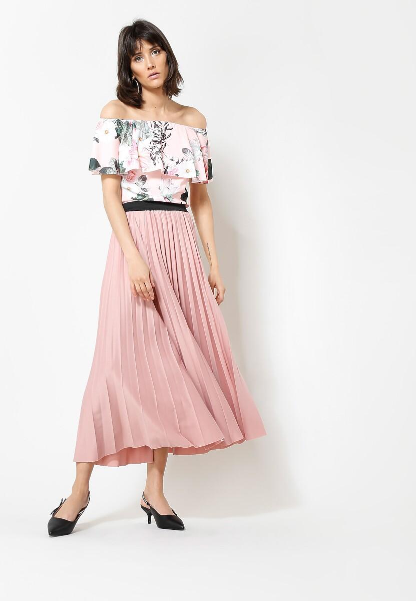 Różowa Spódnica Pleated Story