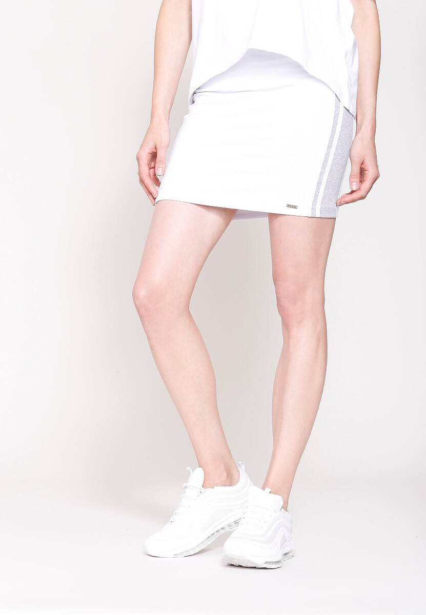 Biała Spódnica Simple Sport