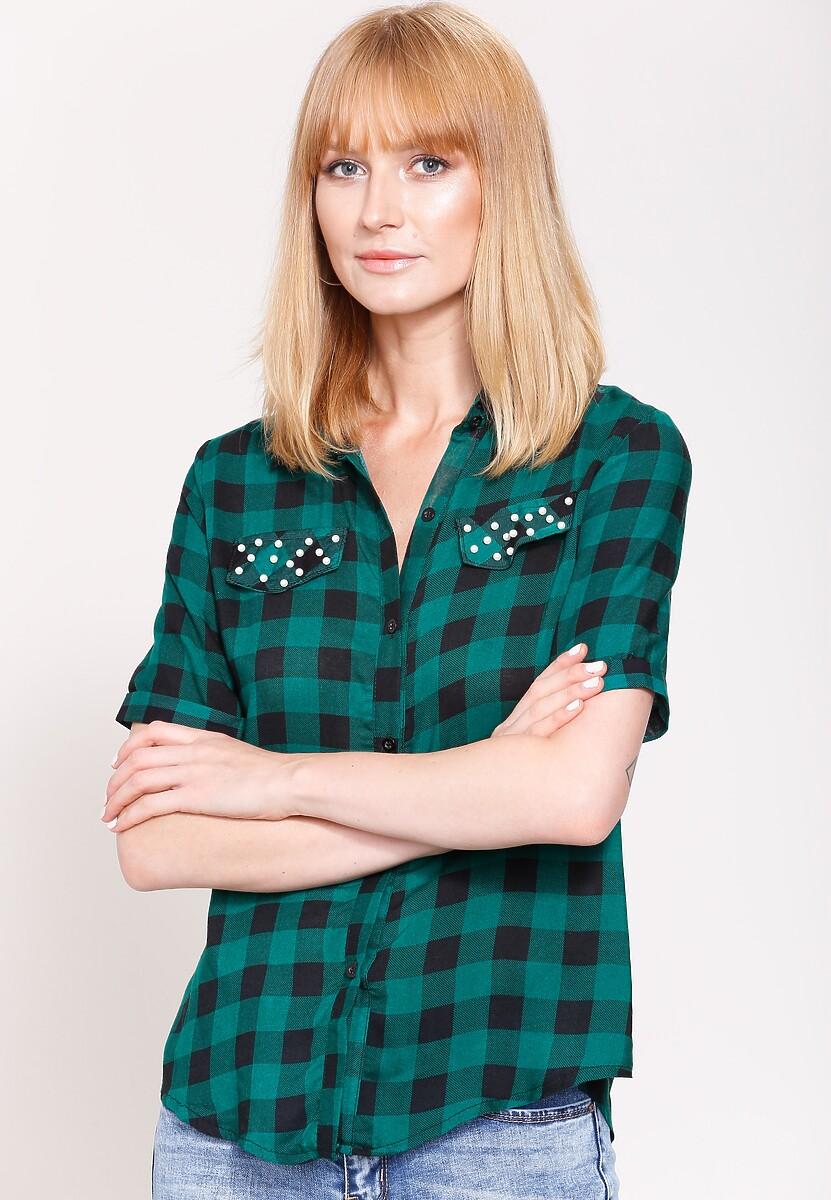 Zielono-Czarna Koszula Lovely Story