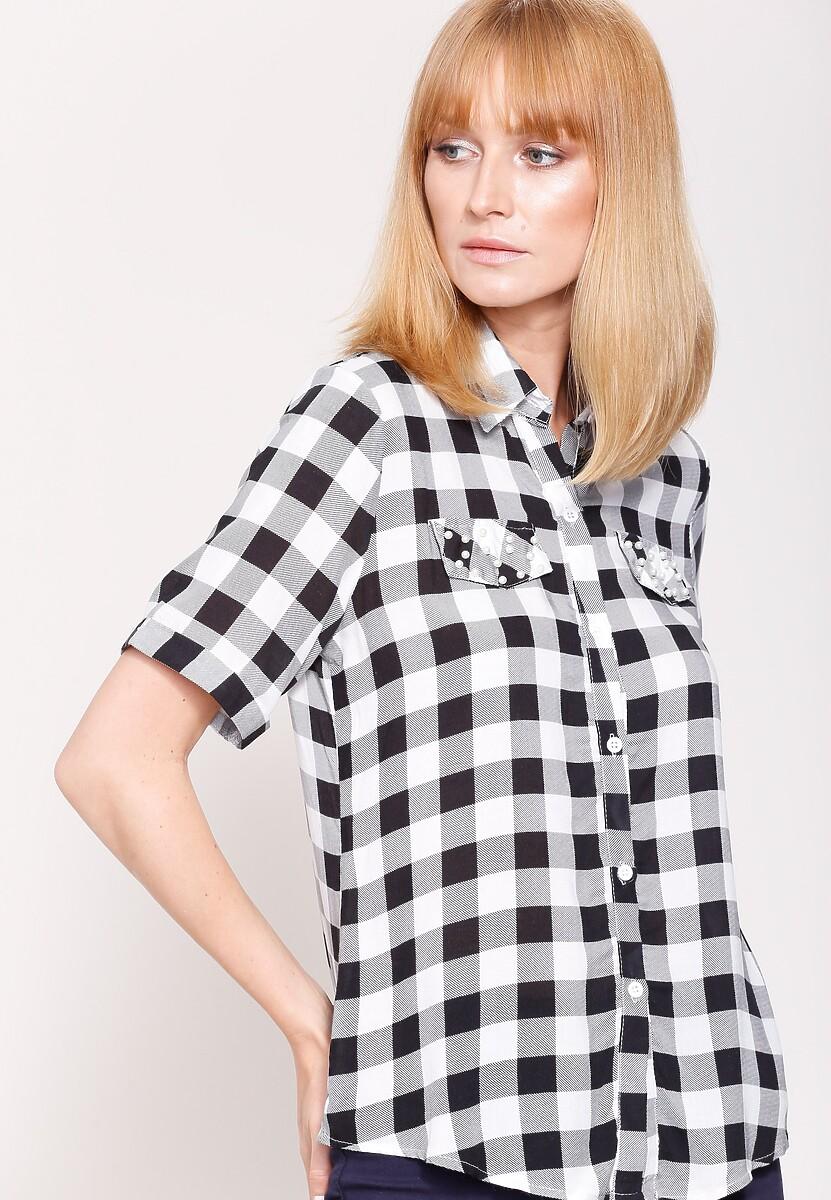 Czarno-Biała Koszula Lovely Story