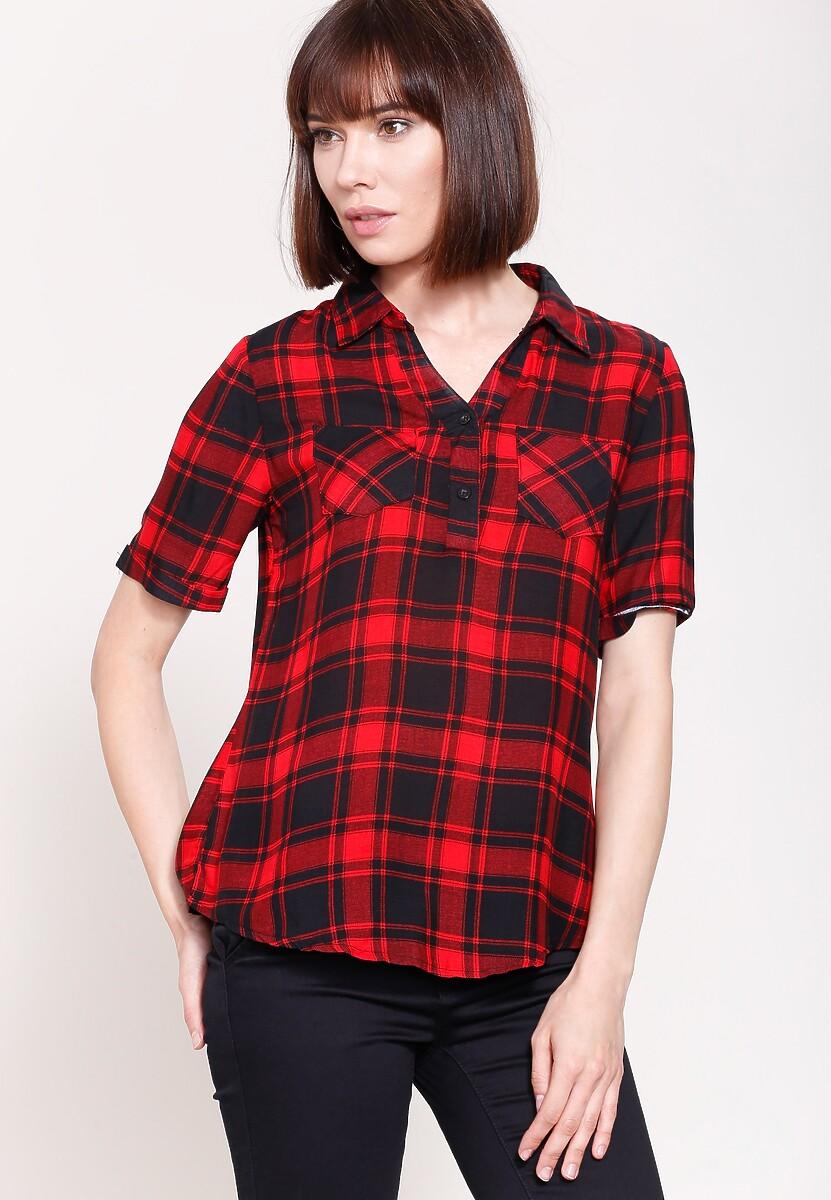 Czarno-Czerwona Koszula Nineties Style