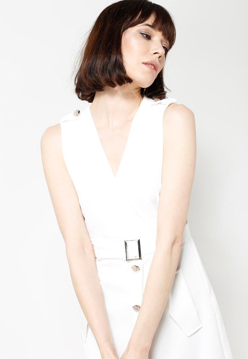 Biała Sukienka City Love