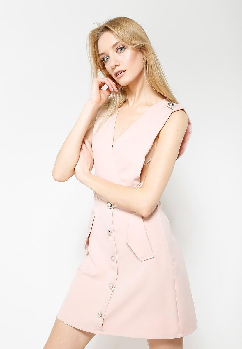 Różowa Sukienka City Love