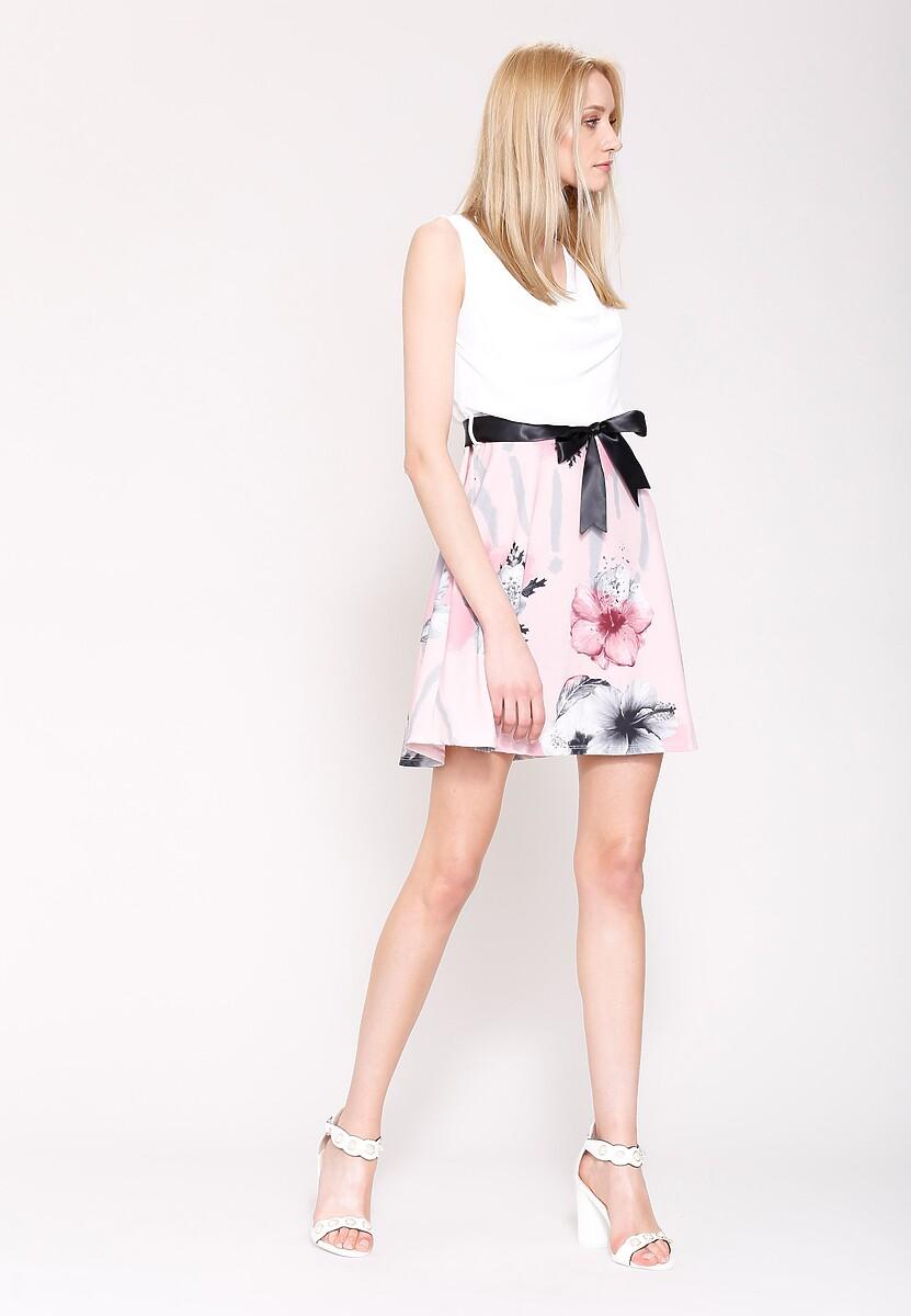 Różowo-Szara Sukienka Endearing