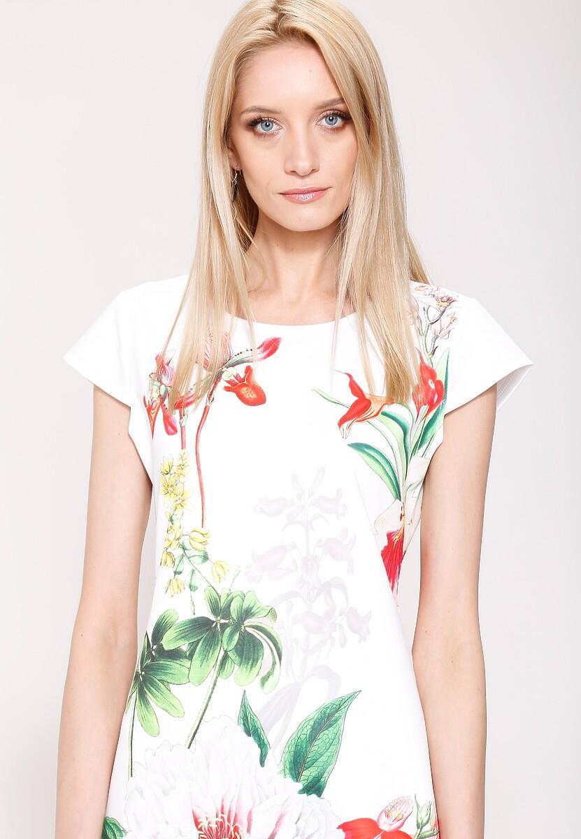 Biała Sukienka Wild Flowers