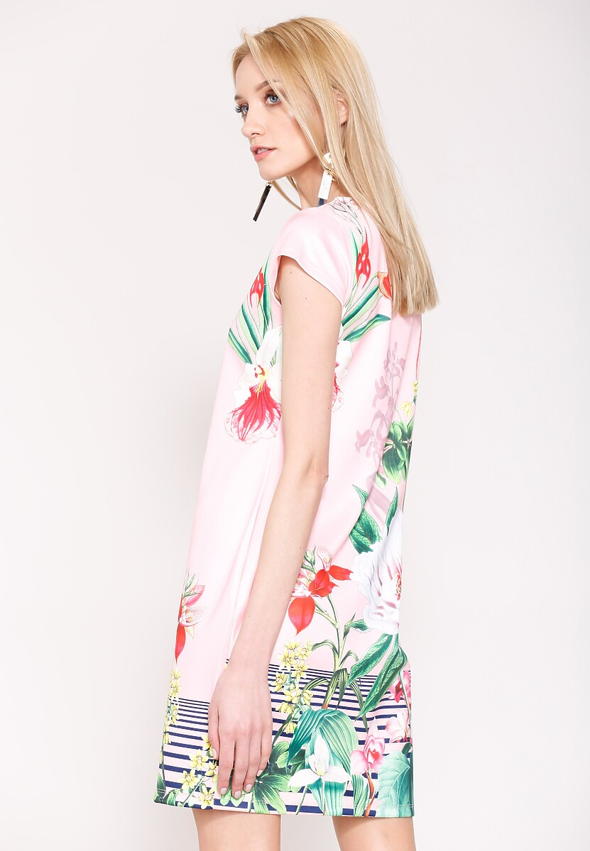 Granatowa Sukienka Wild Flowers