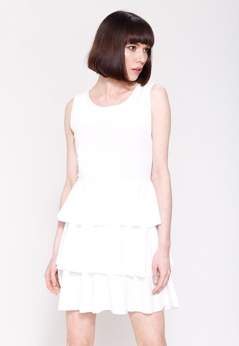 Biała Sukienka Hot Touch