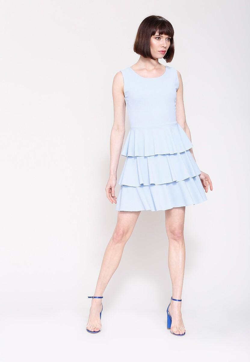 Niebieska Sukienka Hot Touch