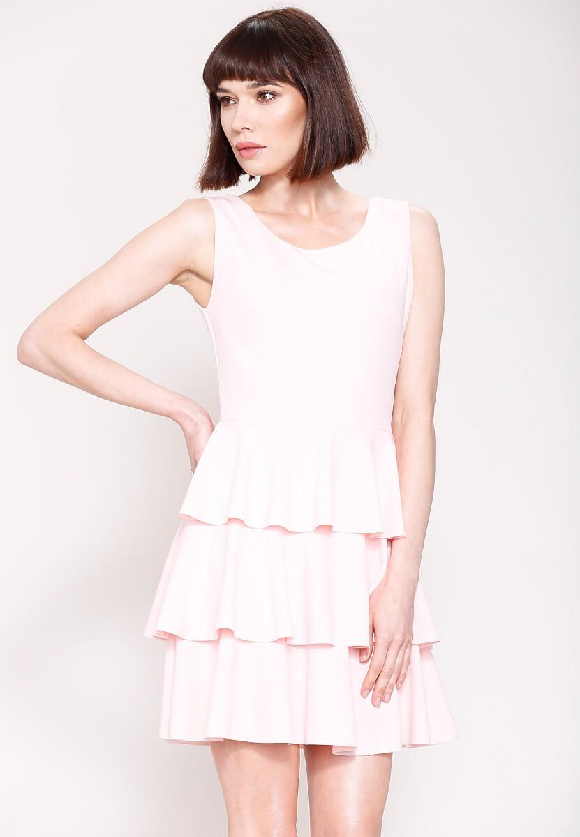 Różowa Sukienka Hot Touch
