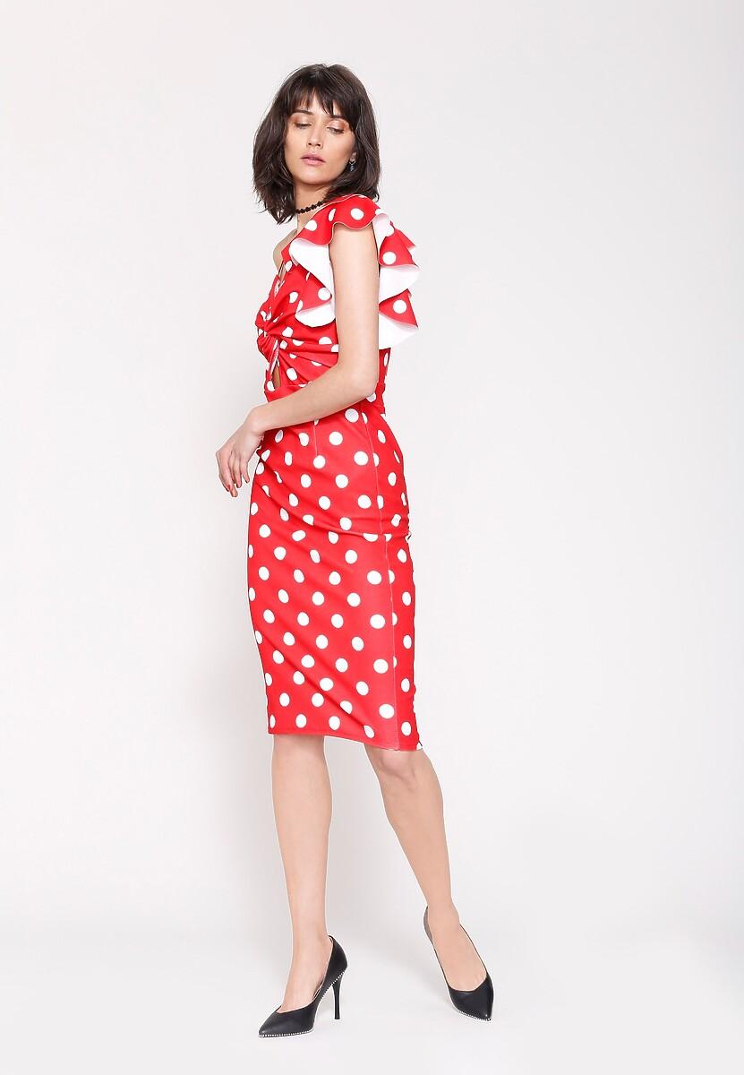Czerwona Sukienka I Like Dots