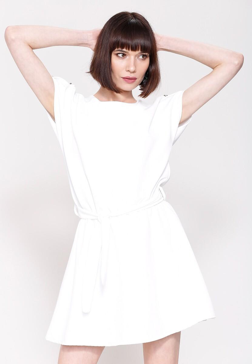 Biała Sukienka White Lilies