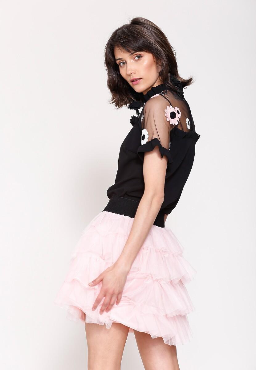 Różowa Spódnica Tournure