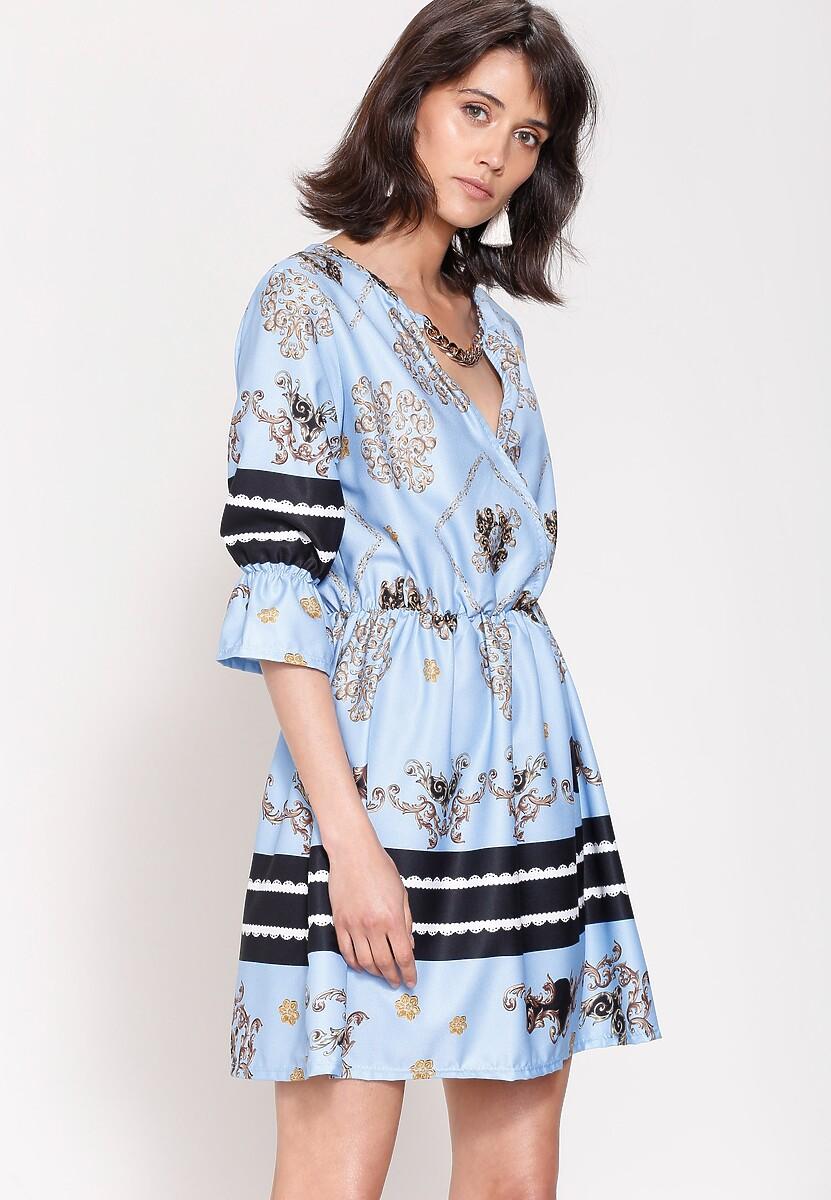 Jasnoniebieska Sukienka Belle Florist