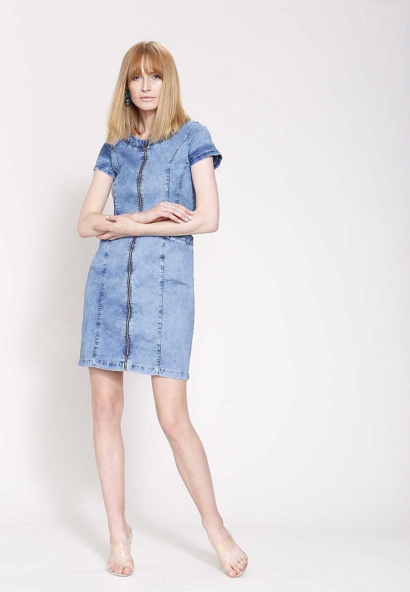 Niebieska Sukienka Juniper