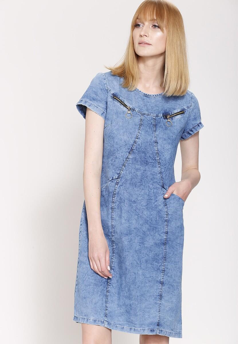 Niebieska Sukienka Ivy