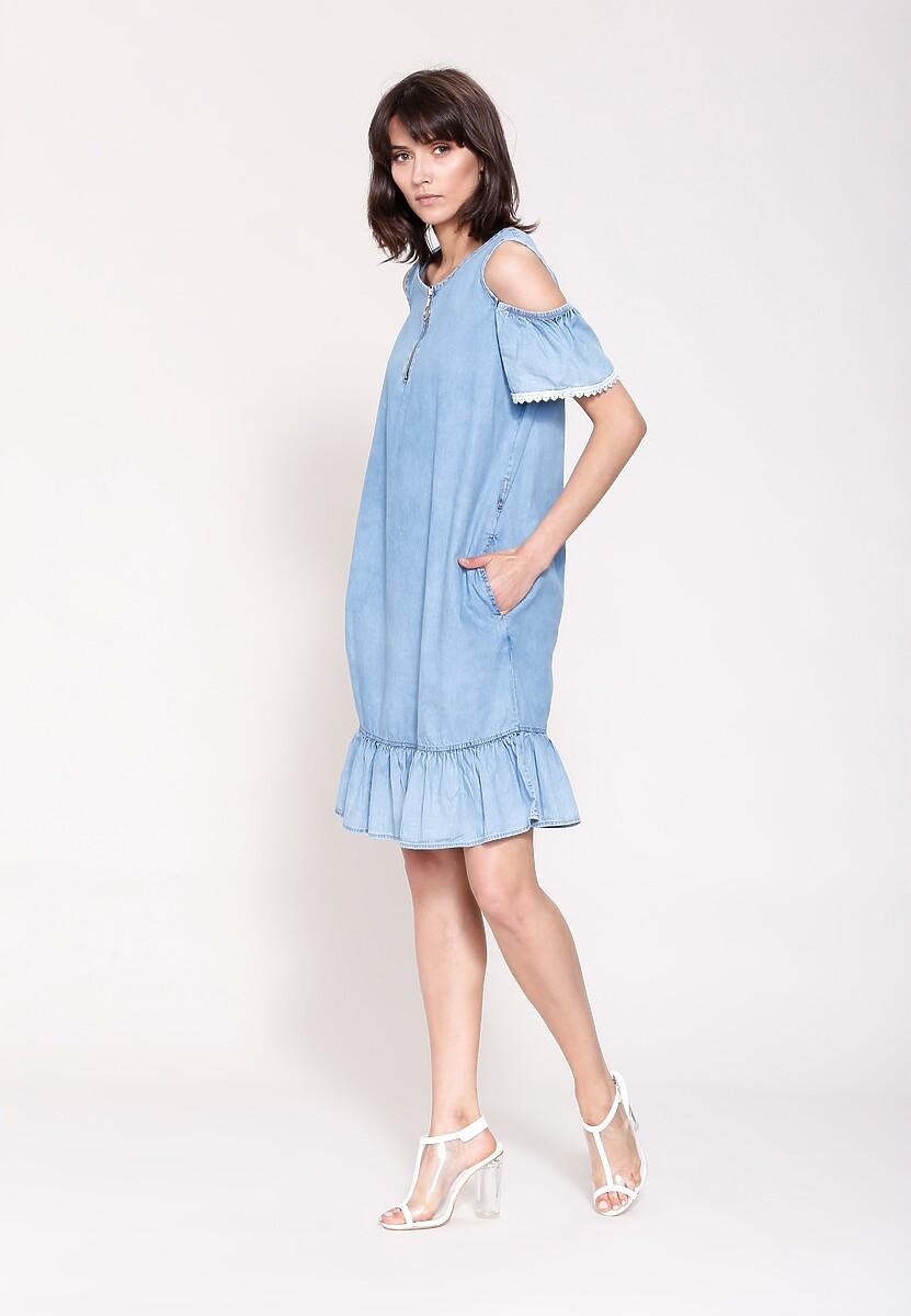 Jasnoniebieska Sukienka Pomander