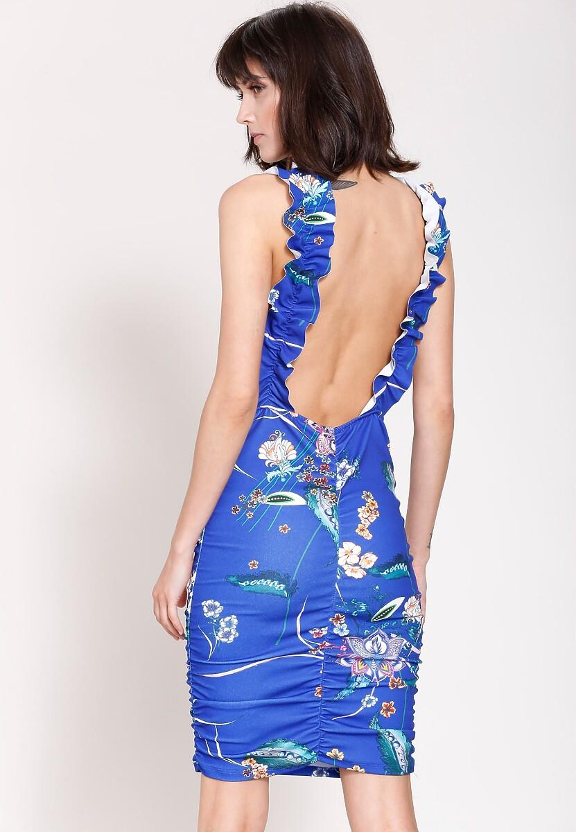Niebieska Sukienka Classy Look