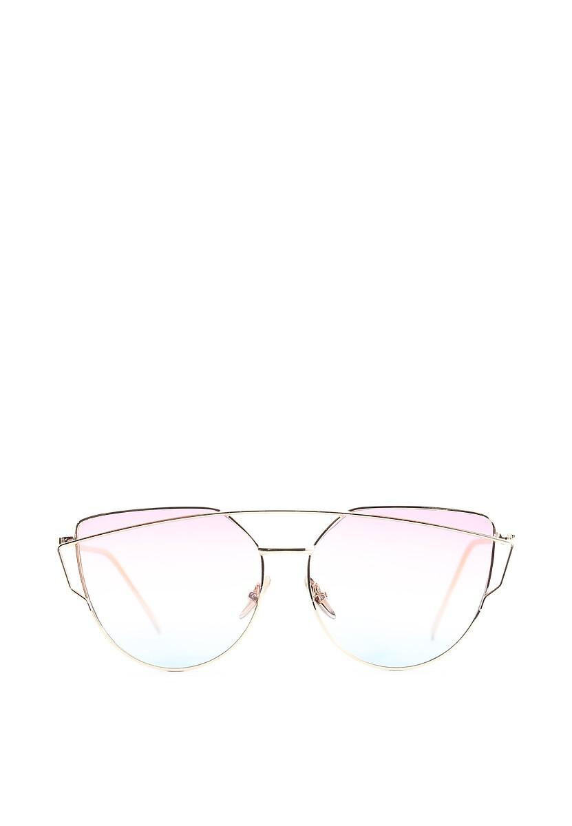 Różowo-Złote Okulary To My Knees