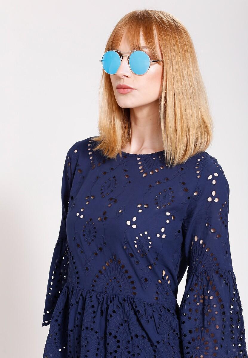 Srebrno-Niebieskie Okulary See the Sun