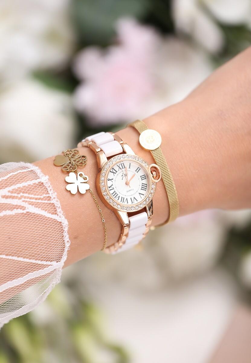 Biało-Złoty Zegarek Chills