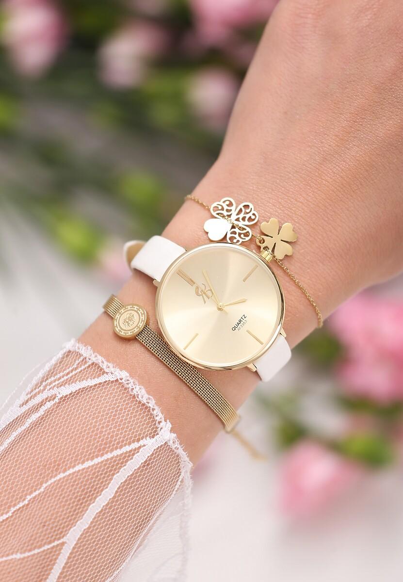 Biało-Złoty Zegarek Lover In Me