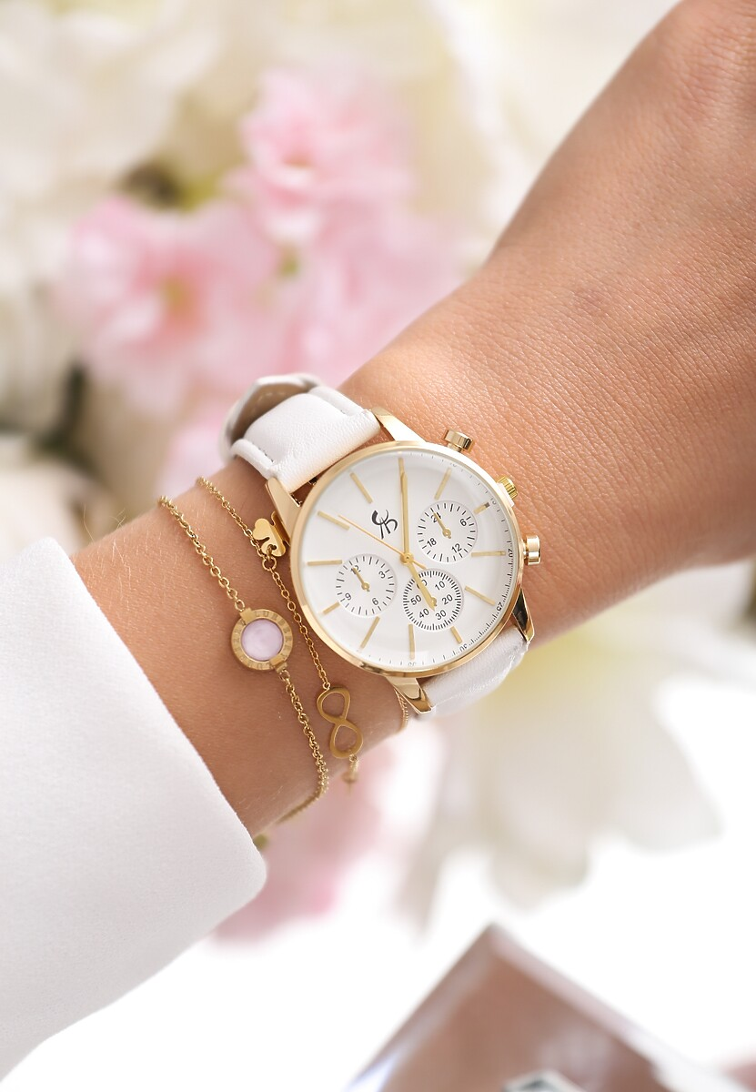 Biało-Złoty Zegarek I Will Be King