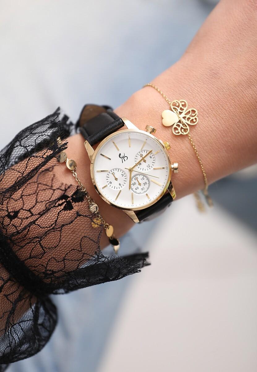 Czarno-Złoty Zegarek I Will Be King