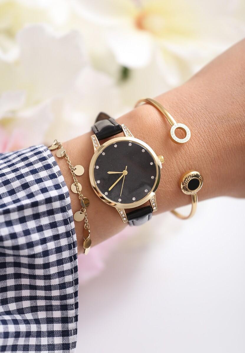 Czarno-Złoty Zegarek Something Binds Me