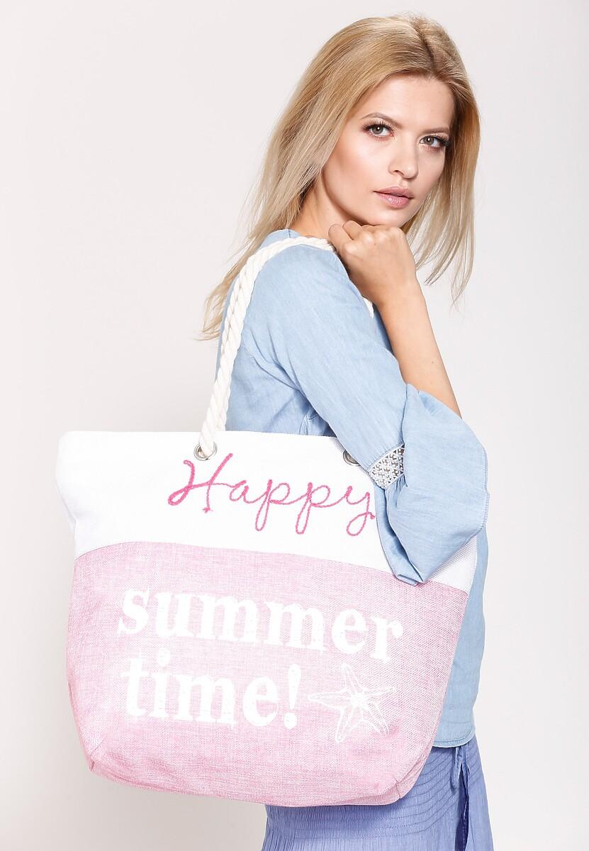 Różowa Torebka Happy Summer