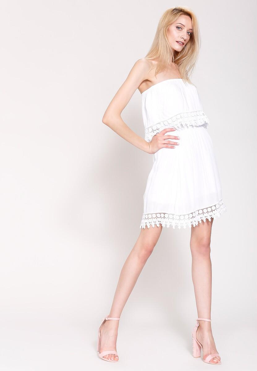 Biała Sukienka Hazel Cream