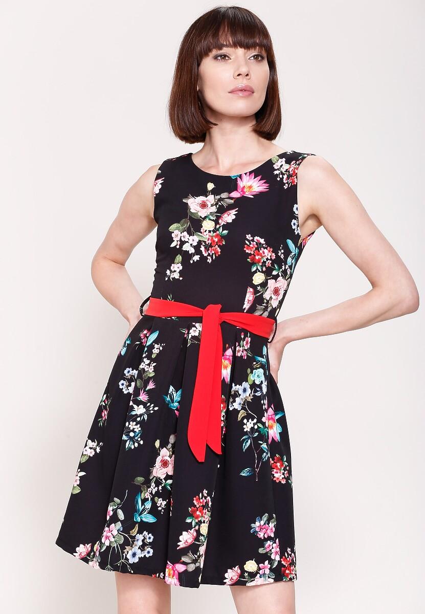 Czarna Sukienka Spring Wind