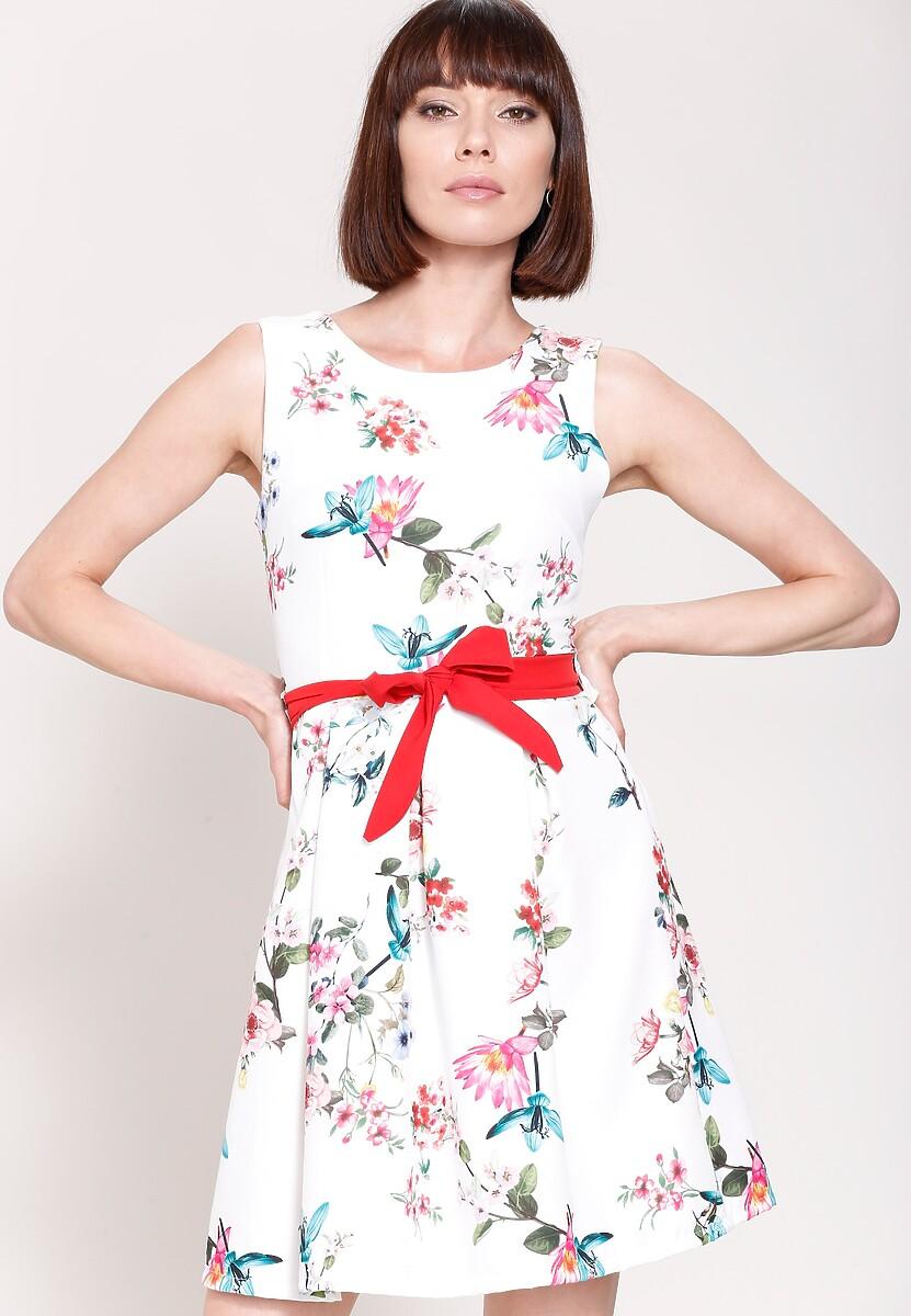 Biała Sukienka Spring Wind