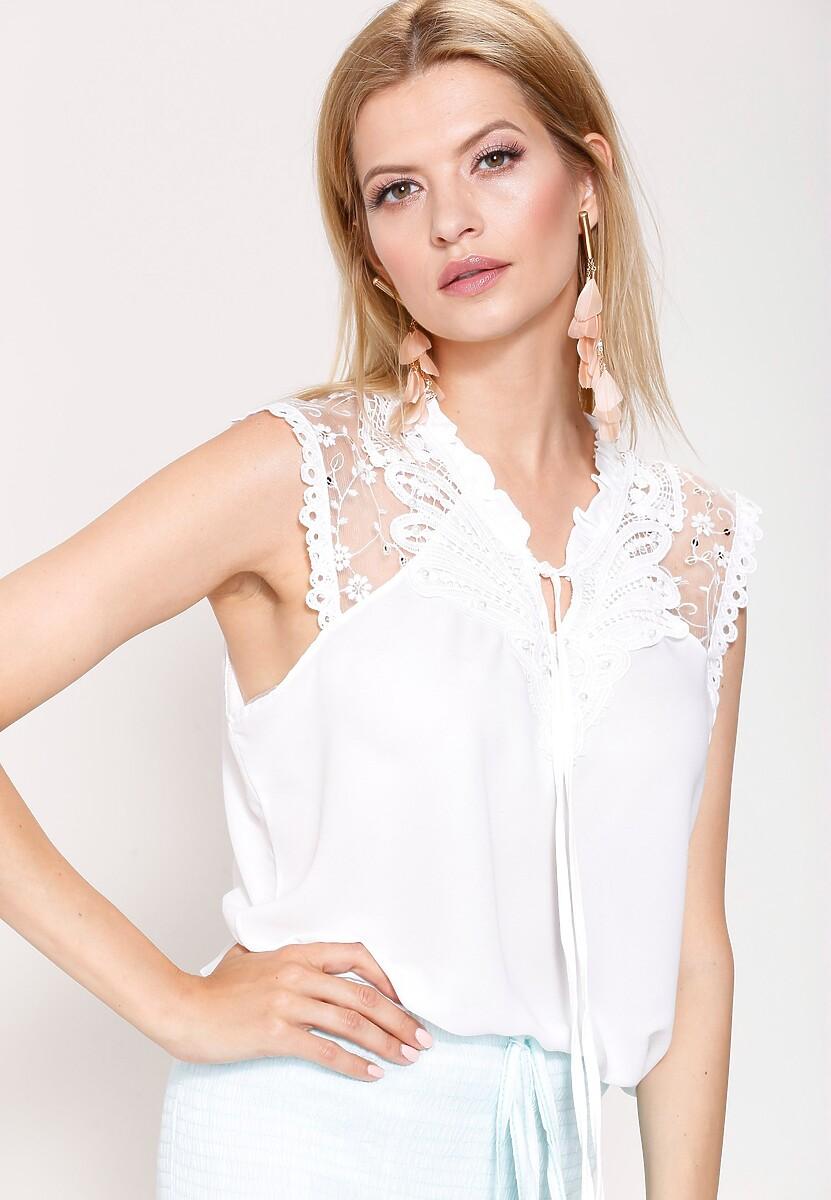 Biała Bluzka To Be A Lady