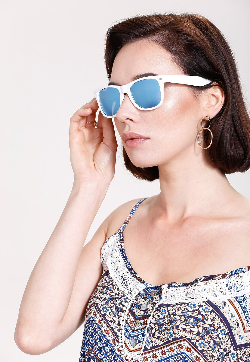 Biało-Niebieskie Okulary Ocean's Blue