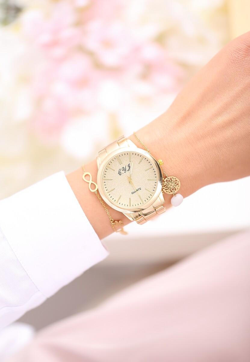 Złoty Zegarek Stone And Velvet