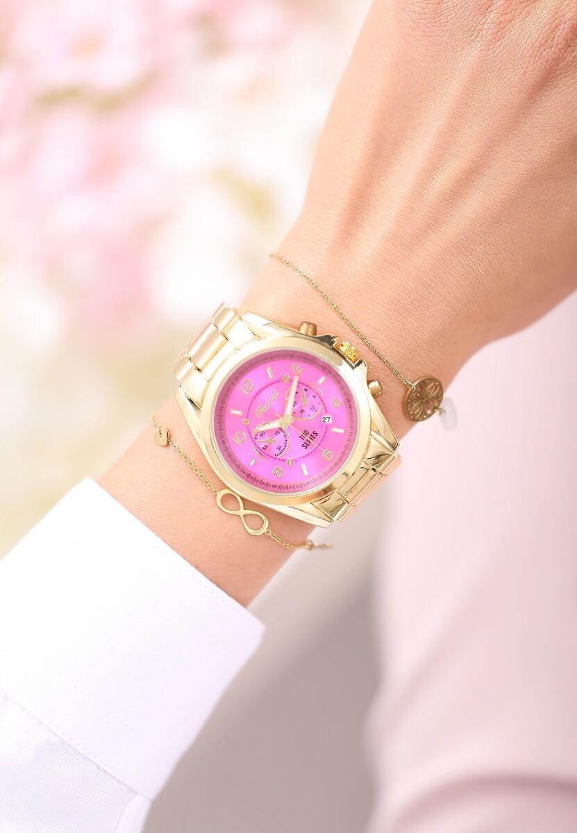 Złoto-Różowy Zegarek Never Know It