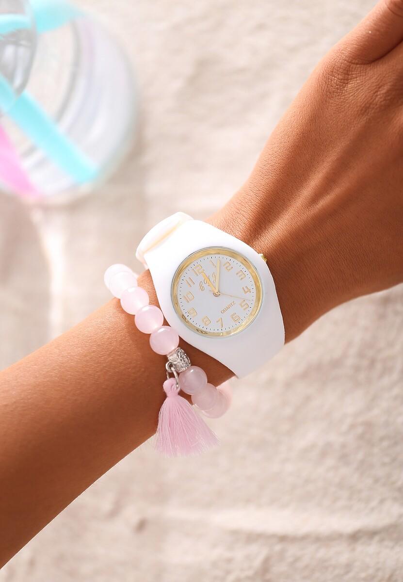 Biały Zegarek You Suit Me