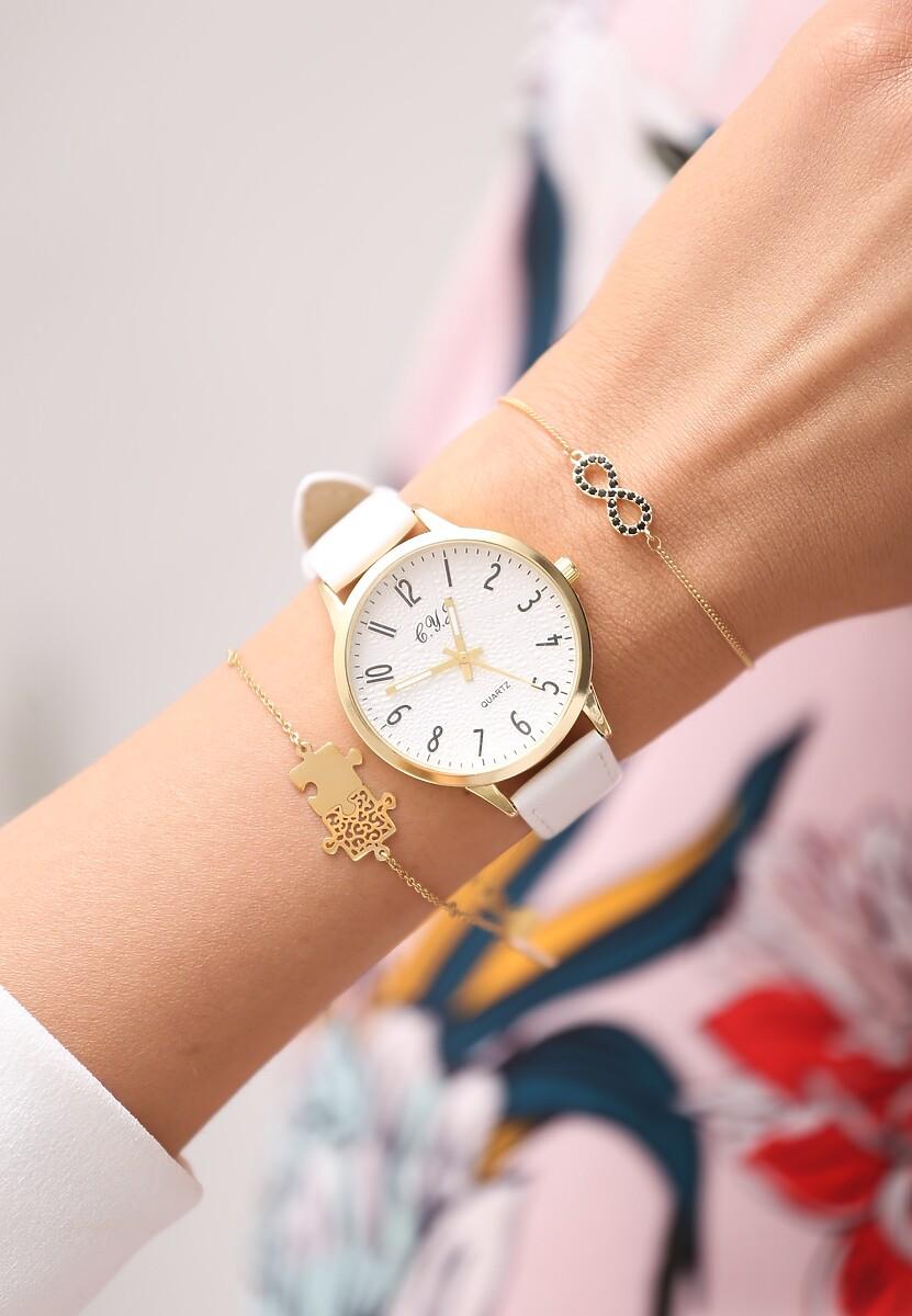 Biały Zegarek Always On Time