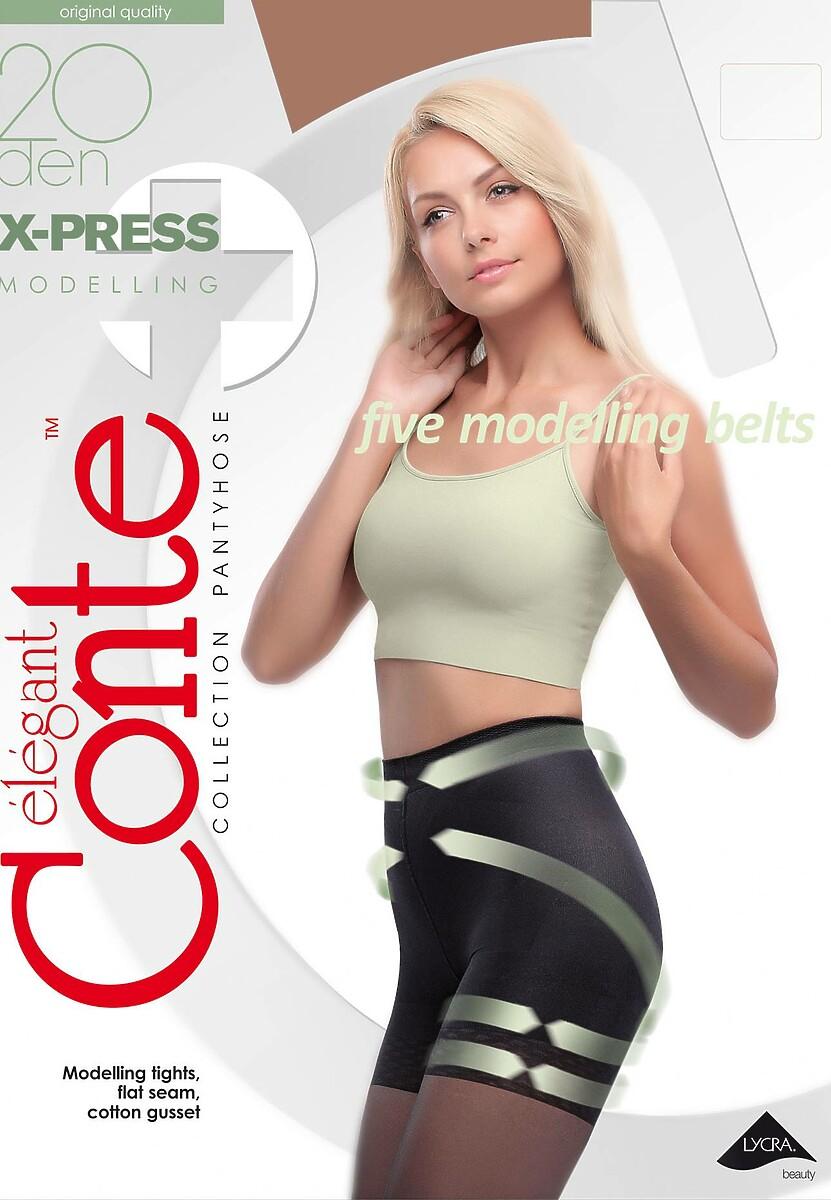 Jasnobeżowe Rajstopy Conte Model Shape