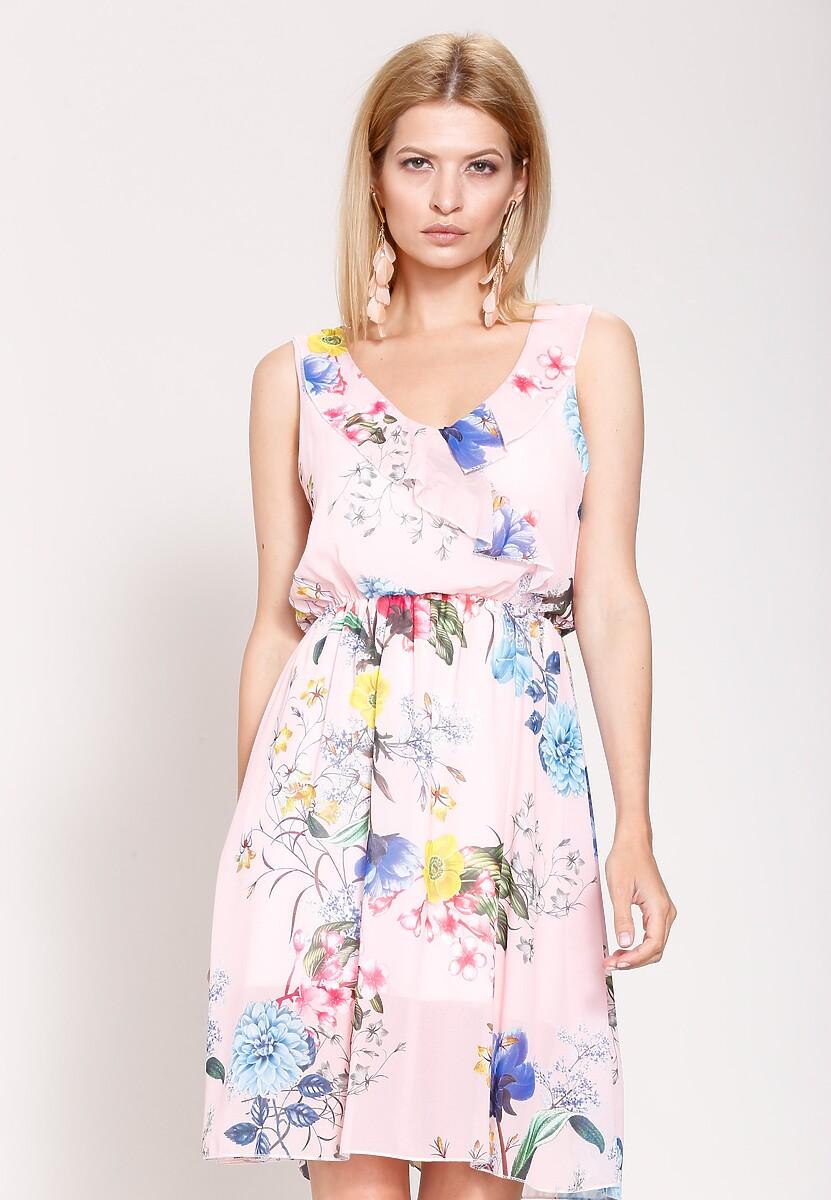 Różowa Sukienka Moody