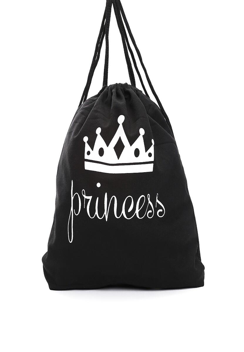 Czarny Plecak Princess Backpack