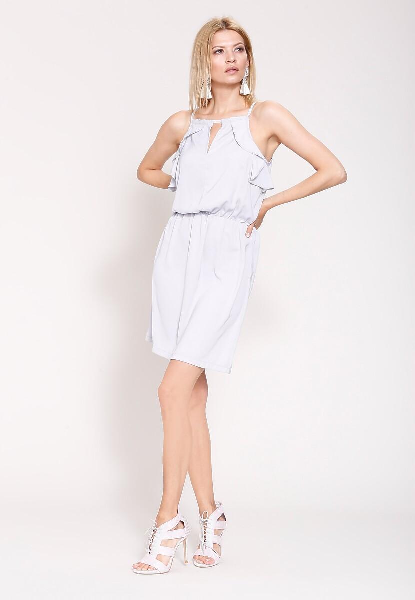 Szara Sukienka High Standard