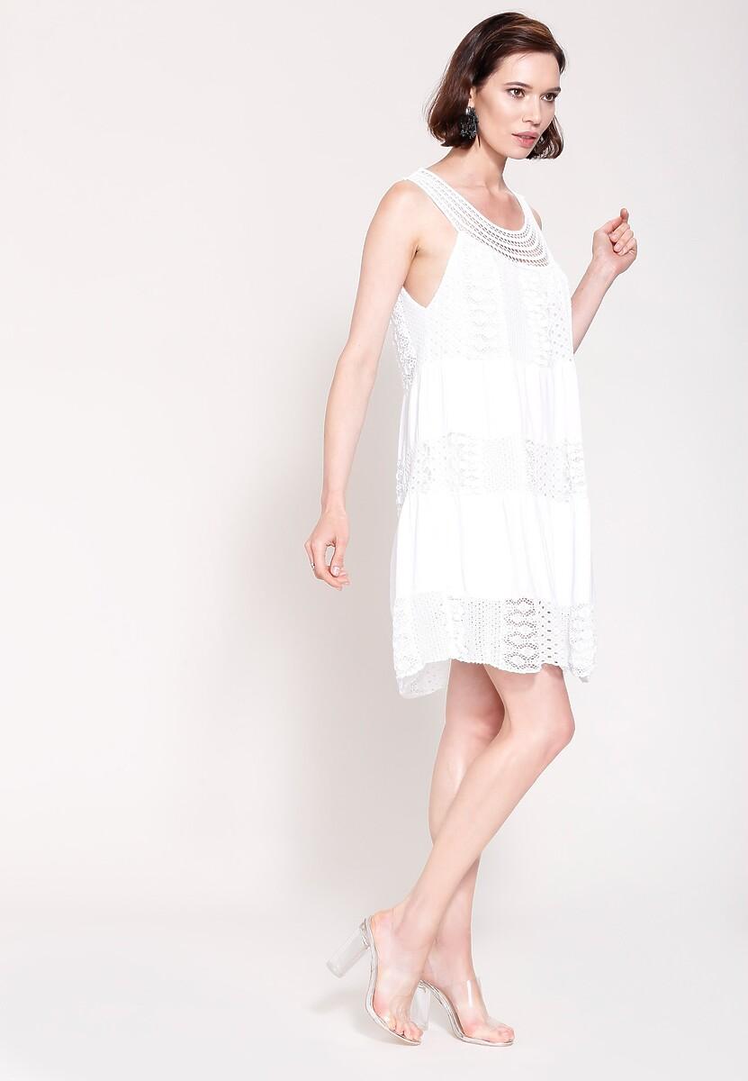 Biała Sukienka Baby Dolls