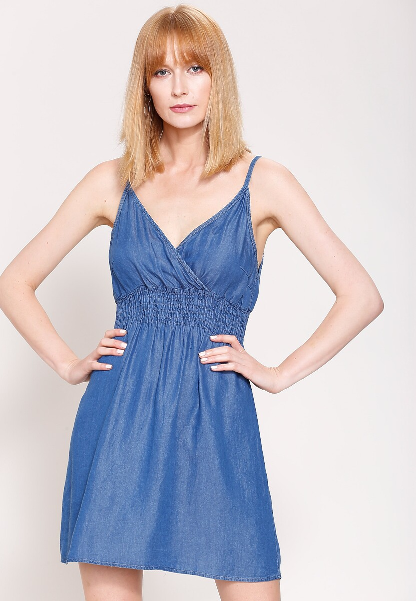 Niebieska Sukienka Ocean Winds
