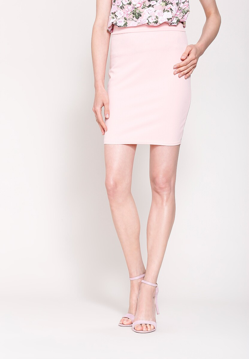 Różowa Spódnica Office Look