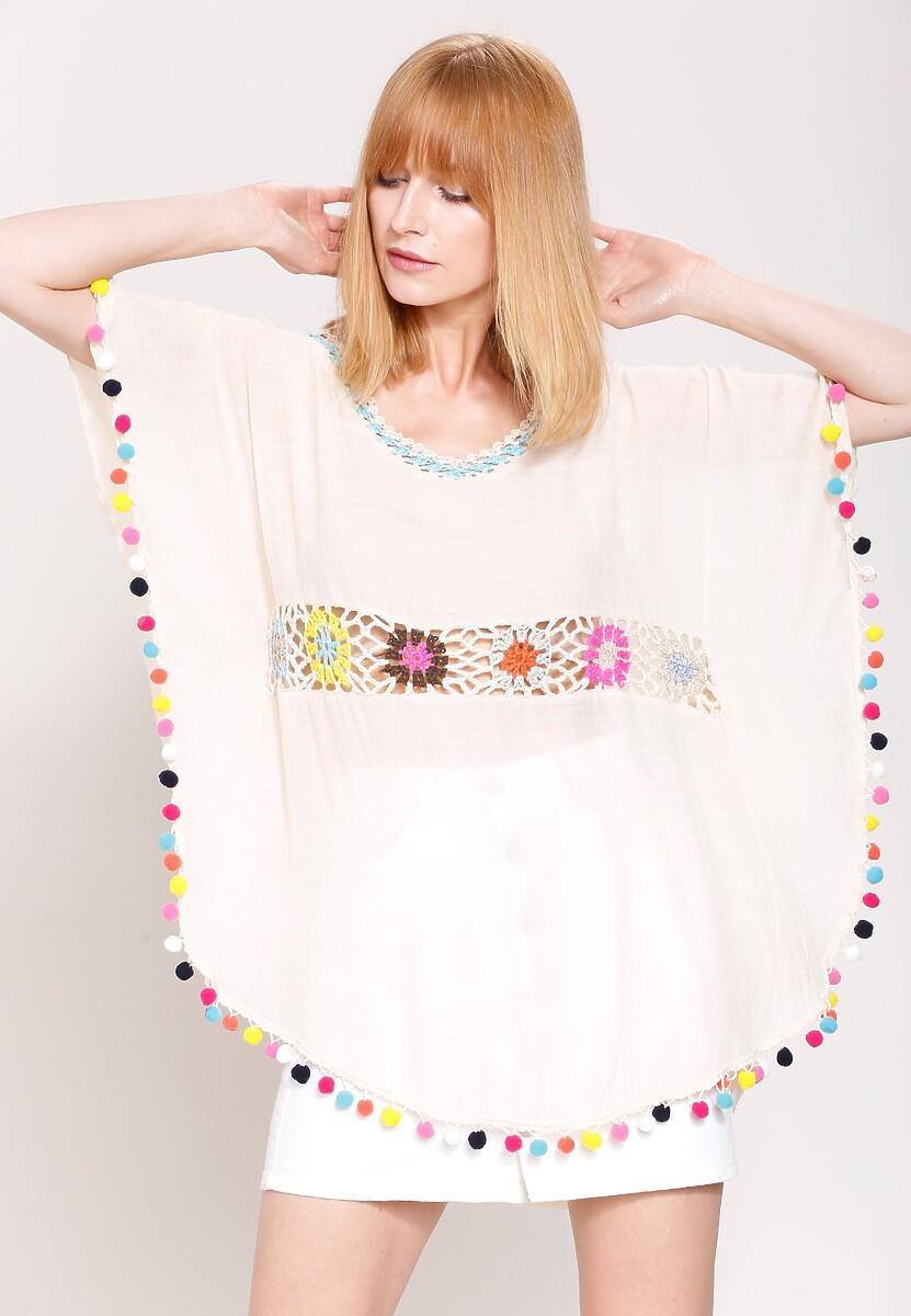 Beżowa Bluzka Colourful Girl