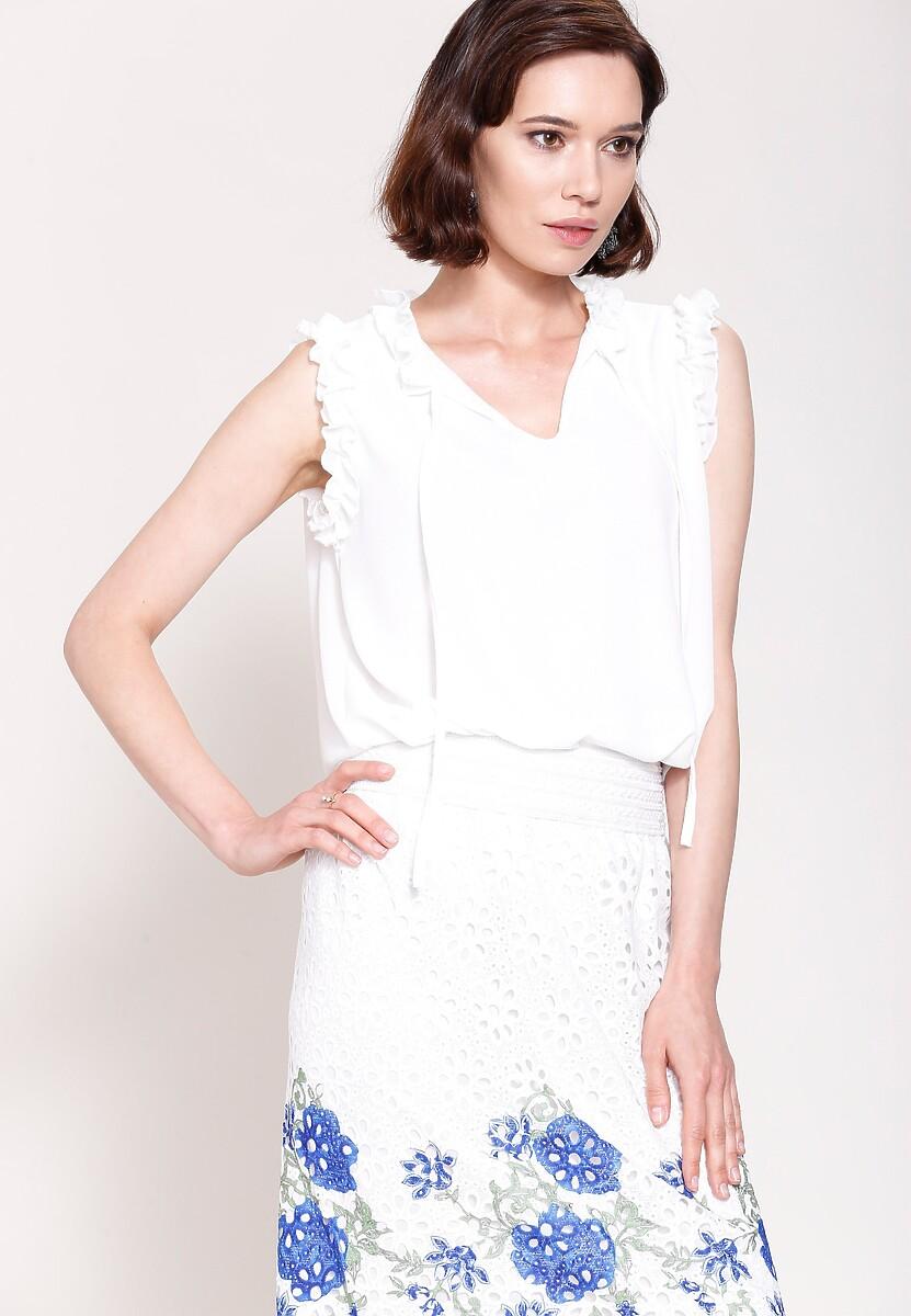 Biała Bluzka Unique Lady